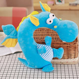Animal Travel Pillow Blue Dragon