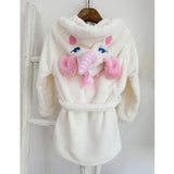 Unicorn Bathrobe Back