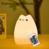 Cat LED Night Light with remote