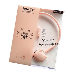 Stereo Headphones Pink Cat