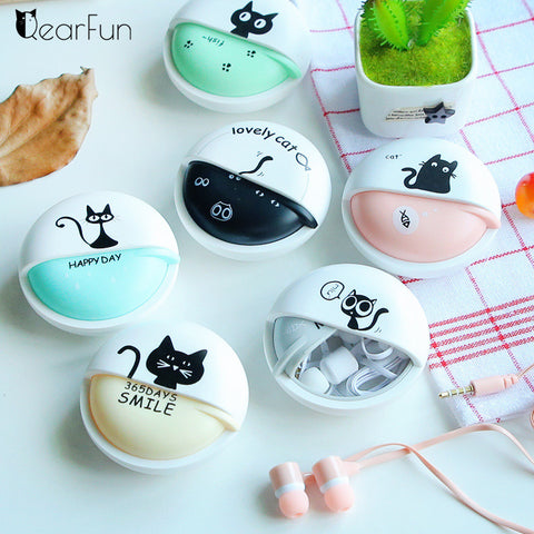 Cute Cat 3.5mm Wired Headphone for Girls and Women | Cat Coin Purses
