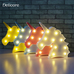 Unicorn Head Led Night Light 4 Colors