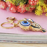 Owl Rhinestone Crystal Key Chain