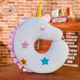 Unicorn Neck Pillow Blue