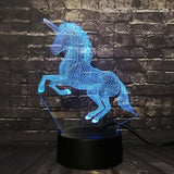 Unicorn LED Night Light Blue