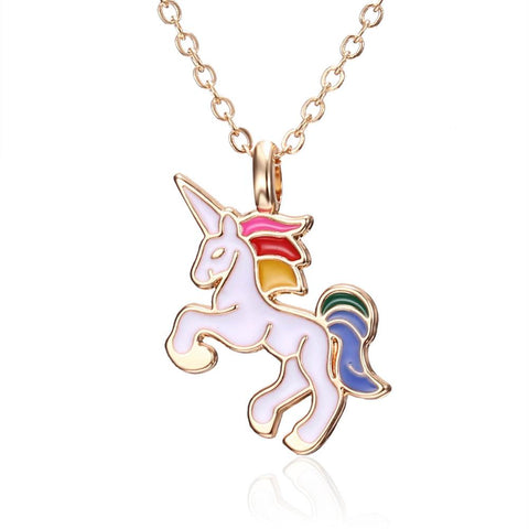 Enamel Unicorn Necklace For Girls