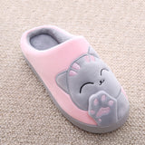 Women's Cat Slipper Pink and Grey