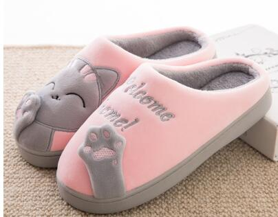 e570635c6db ... Women s Cat Slippers Pink and ...