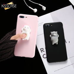 Squishy Cat iPhone Case Pink and Black