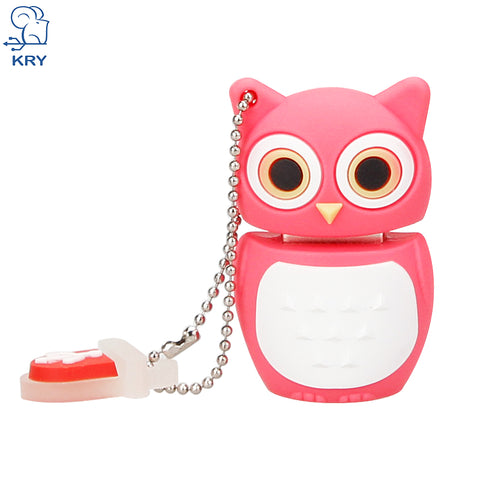 USB Flash Drive Pink Owl