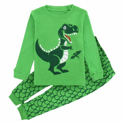 Dinosaur Pajamas Green