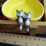Fox Earrings Bronze