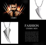 Men's Stainless Steel Wolf Tooth Necklace