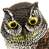 Large Realistic Owl Decoy for Garden Pest Control