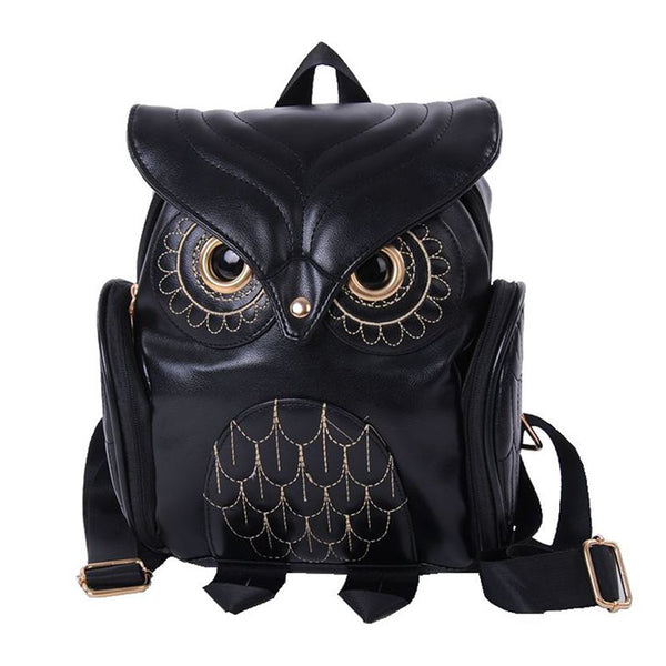 PU Leather Owl Backpack | Owl School Bag