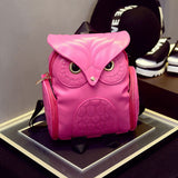 Owl Backpack Dark Pink