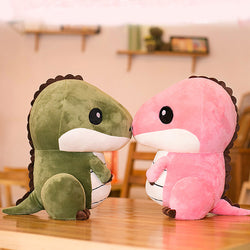 Plush Dinosaur Toy Green and Pink