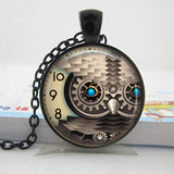 Steampunk Necklace Owl