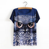 3D Animal Print T-Shirs Owl