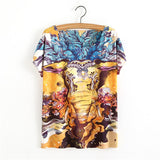 animal print t shirt elephant