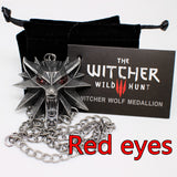 The Witcher 3:  Wild Hunt Wolf Medallion Pendant Necklace