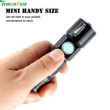 USB LED Rechargeable Flashlight in Hand