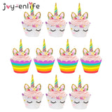 10 Unicorn Cupcake Wrappers