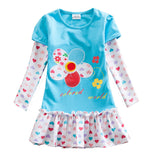 Flower Dress for Girls Blue