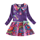 Flower Dress for Girls Purple