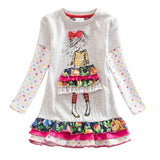 Flower Dress for Girls Colorful Girl with Bow