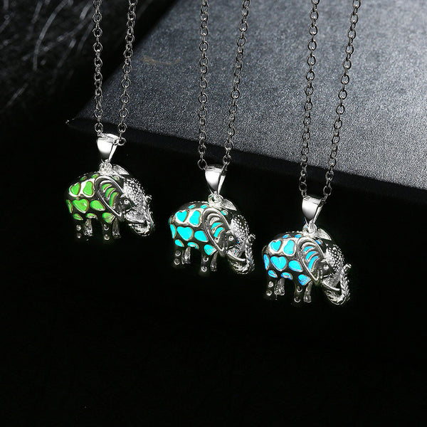 Elephant Glow In The Dark Locket Pendant