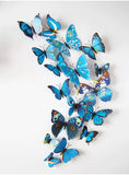 Butterfly Wall Stickers Blue