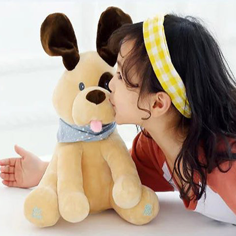 Interactive Dog being kissed by girl