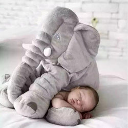 giant elephant pillow with baby