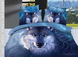 cotton bedding sets full wolf