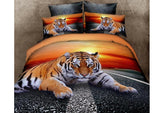 cotton bedding sets sale tiger