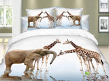 cotton bedding sets giraffe elephant