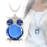 Crystal Owl Blue with Woman