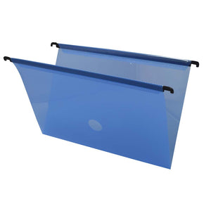 Blue Hanging File Folder with Fastener and Label