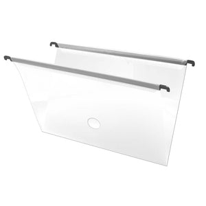 Clear Hanging File Folder with Fastener and Label