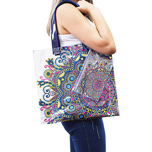 large beach bag with exclusive pattern