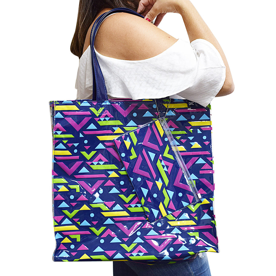 beach bag with colorful design