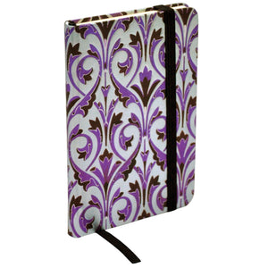 ModMaven Pocket Size Journal Hard Cover with Purple Royal Pattern