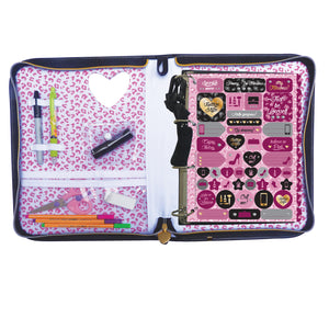 school binder with 48 decorative sheets and stickers