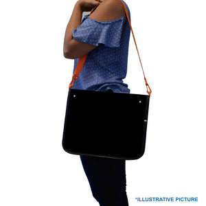 Zipper ring binder with zipper closure and shoulder strap