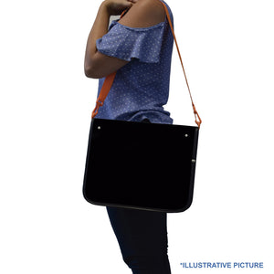 zippered ring binder with shoulder strap