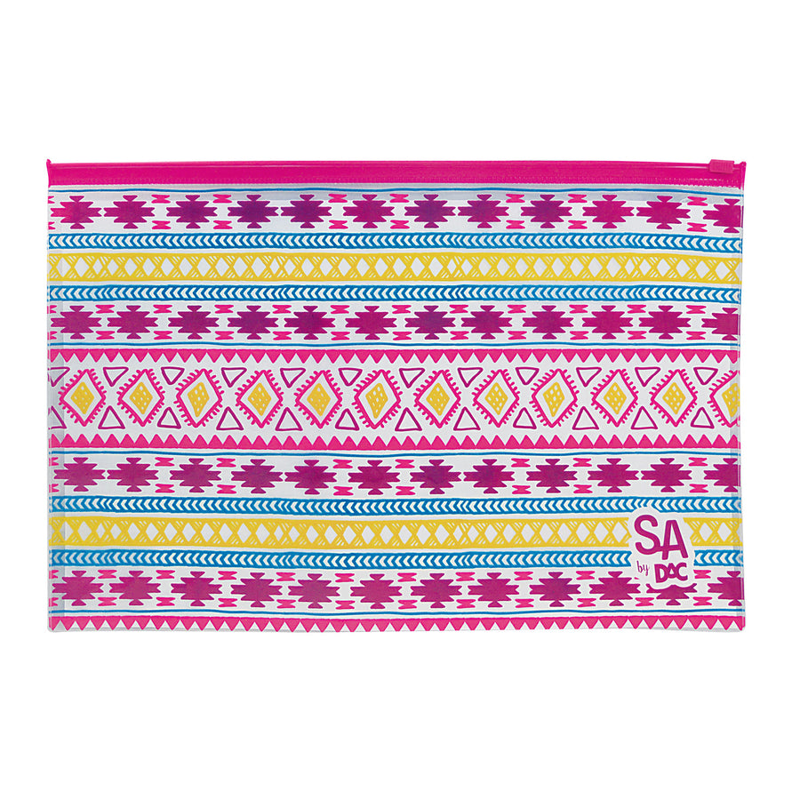 Zippered envelope in PVC with exclusive pattern