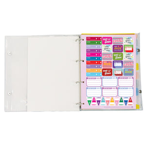 4 ring binder with 192 decorated sheets  and stickers