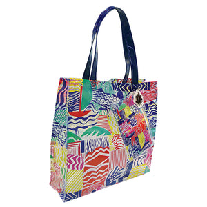 water resistant beach bag with exclusive pattern