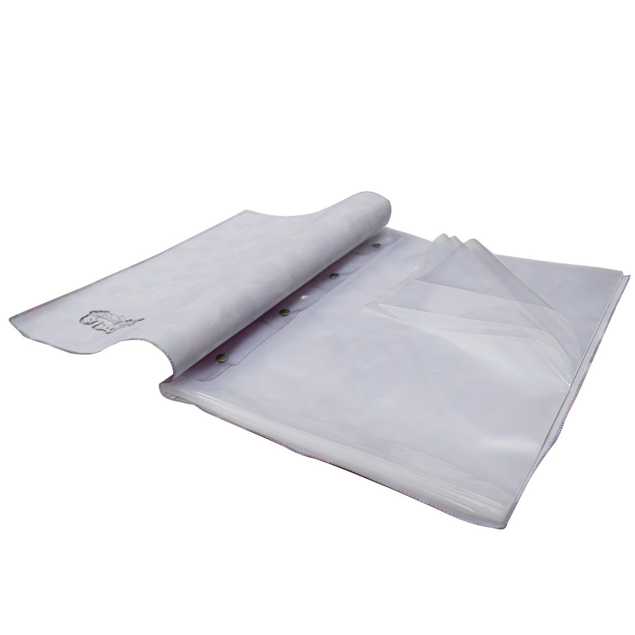 presentation folder with 10 thick polyethylene envelopes